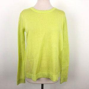CAbi Split Back Pullover #199 Lemon Lime Sweater
